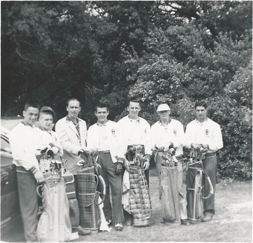 Bill and Kalamazoo College Golf Team
